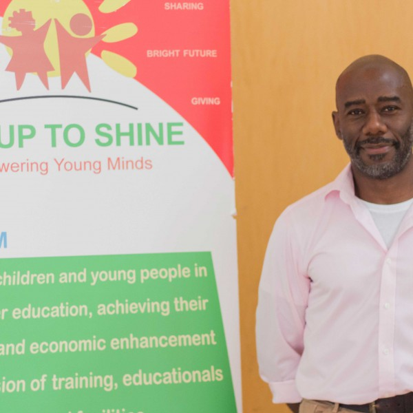 Tony Hirving supporting rise up to shine